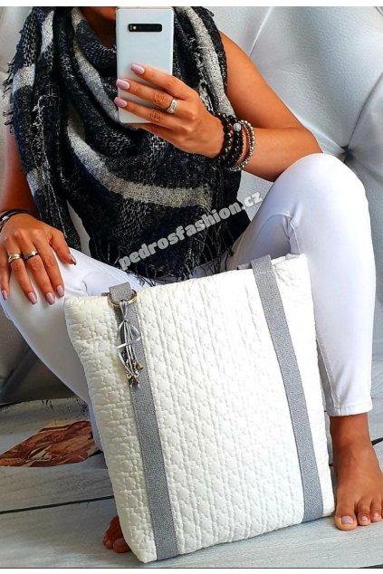 Sladěný set kabelky Pedros bílé a šátku