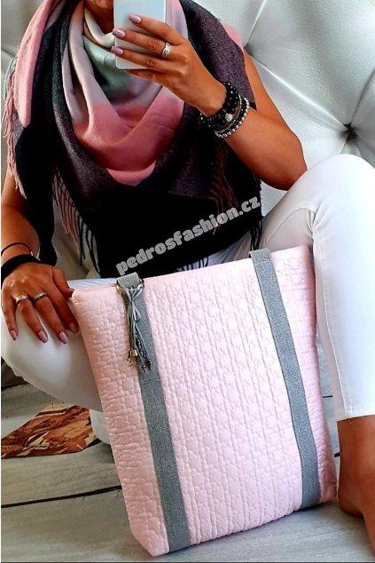 Sladěný set kabelky Pedros růžové a šátku
