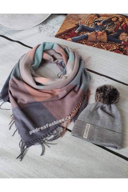 kombinaci šedé, růžové a mentolové barvy II