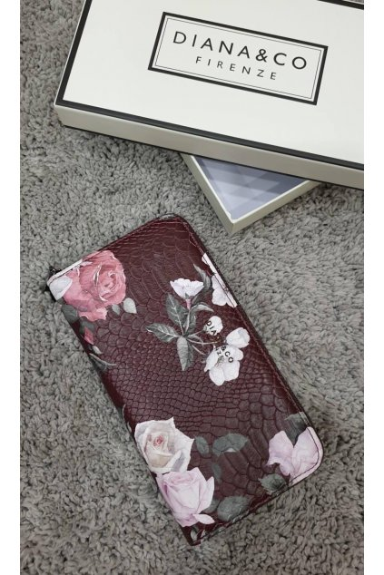 Značková peněženka Diana&co bordó