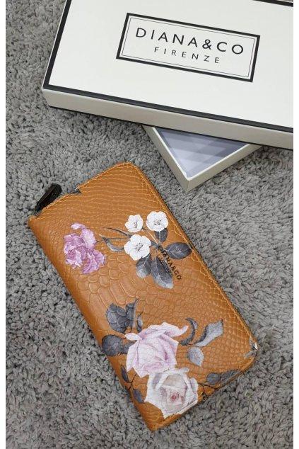 Značková peněženka Diana&co hořčicová