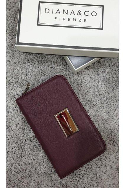 Značková peněženka Diana&co vínová