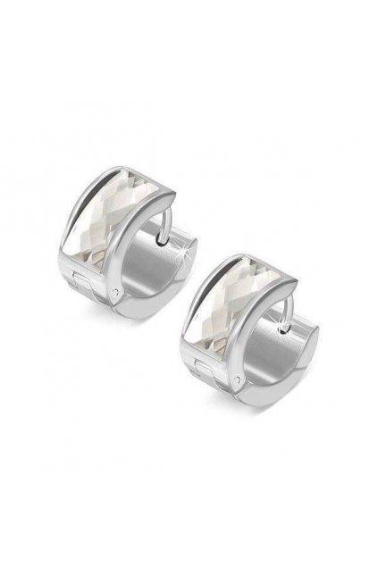Stříbrné náušnice z chirurgické oceli