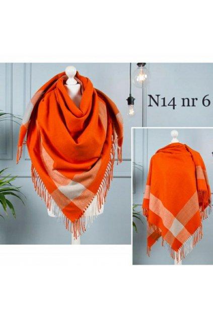 Šátek Fussio oranžový