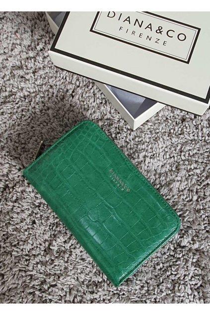 Značková peněženka Diana & co zelená
