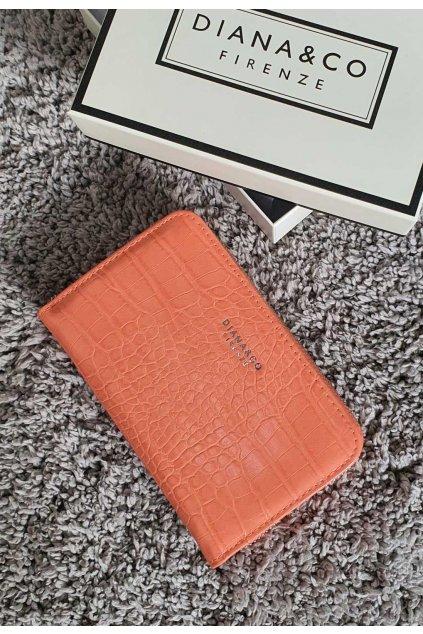 Značková peněženka Diana & co meruňková