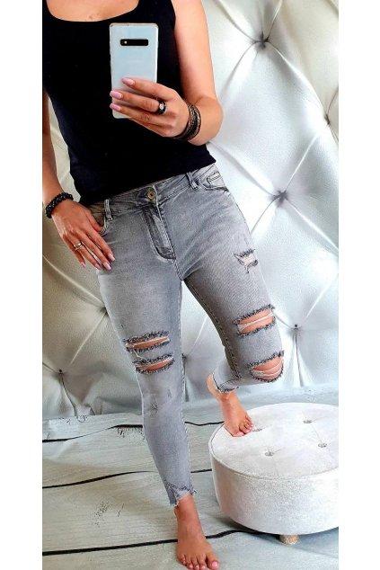 Dámské eslastické jeans modré