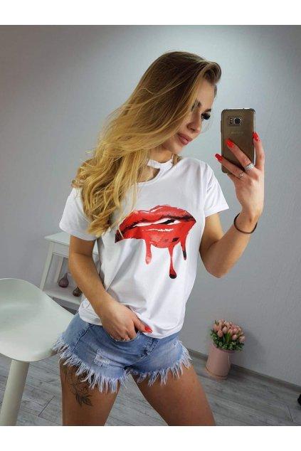Damské tričko Kiss bílá