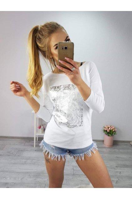 Dámské triko Roses bílé
