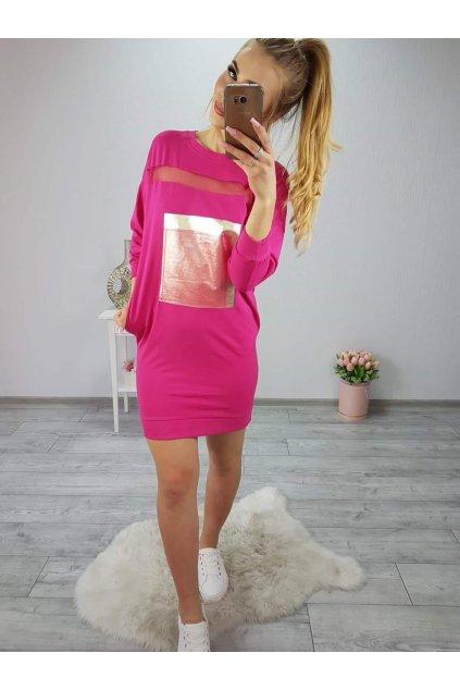 Dámské sportoní šaty Bow růžové