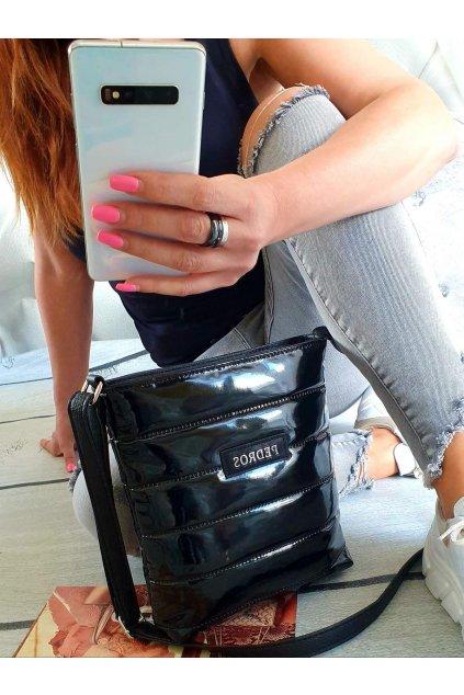lakovaná kabelka Catriines černá