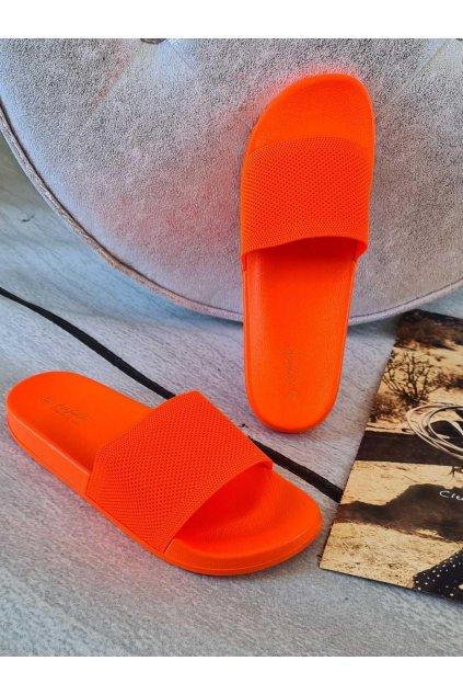 pantofle thalie letní látkové oranž
