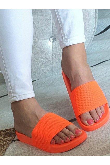 Pantofle neonové oranžové
