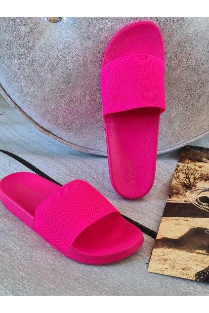 pantofle thalie letní látkové pink