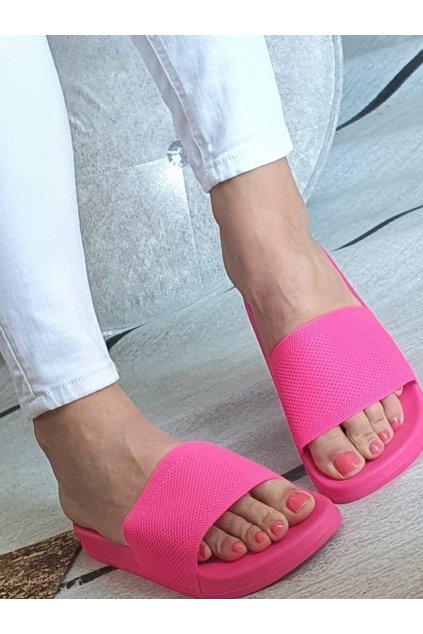 Pantofle neonové růžové