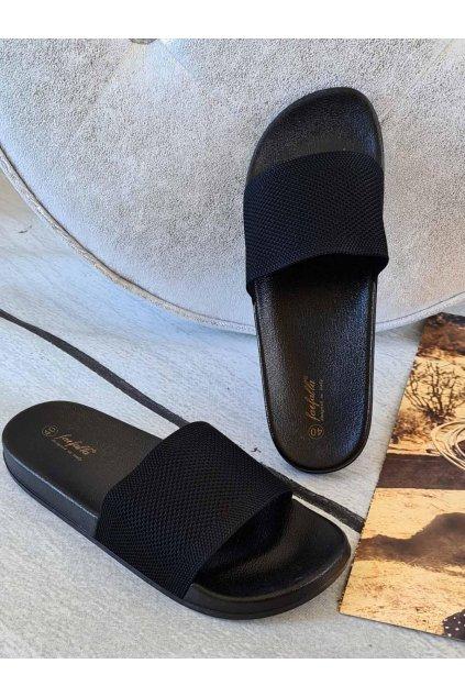 pantofle thalie letní látkové černé