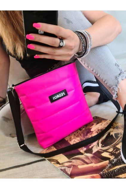 melisa crossbody neon růžová trendy