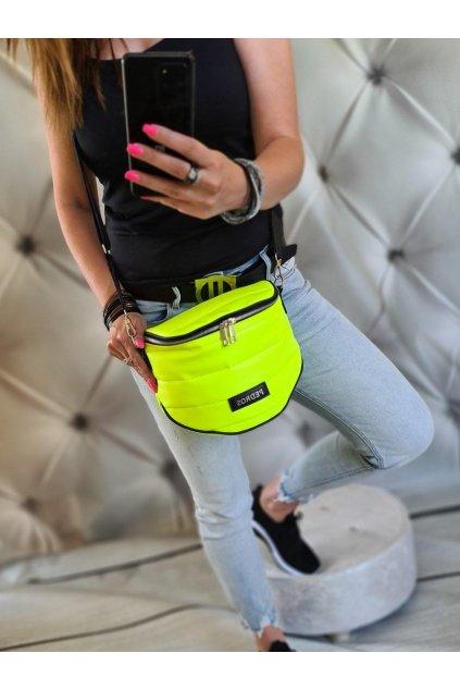 crossbody debbies žlutá neon trendy sportovní