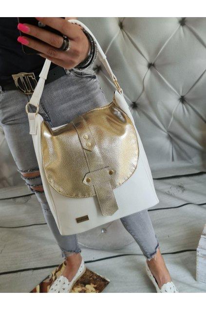 clares bílozlatá zlatá kabelka eko kůže koženka trendy