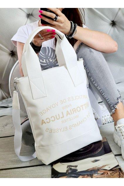 LAURA BIAGGI bílá kabelka trendy eko kůže koženka KŮŽE