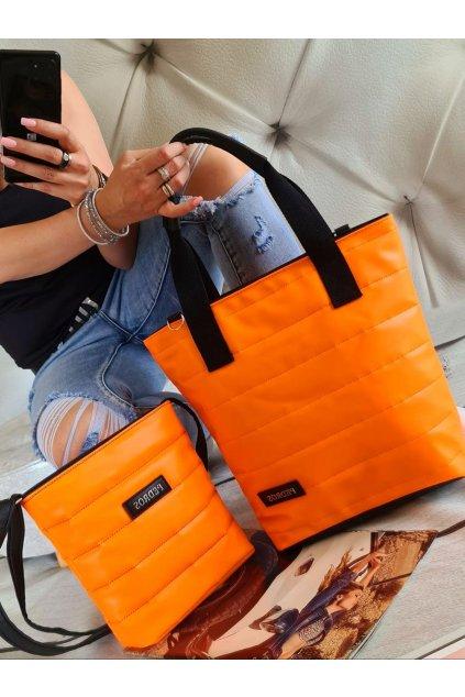 komplet kabelek neon oranžové trendy 2020