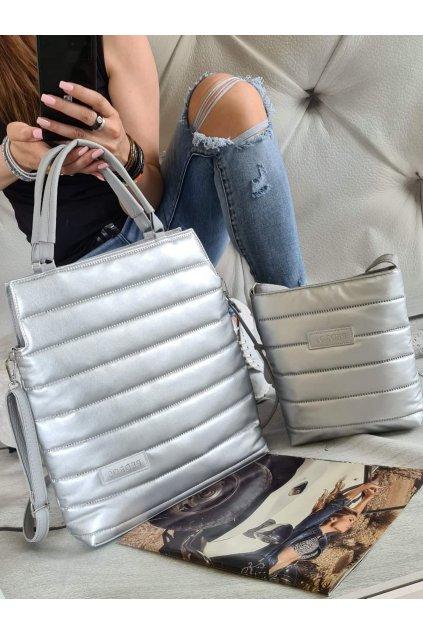 komplet kabelek ve stříbrné barvě trendy sportovní