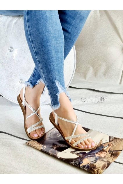letní obuv bílo stříbrná bílá stříbrná lehoučká trendy nadčasové