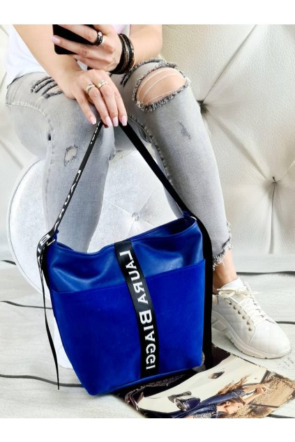 sailen královsky modrá trendy kabelka koženka (2)