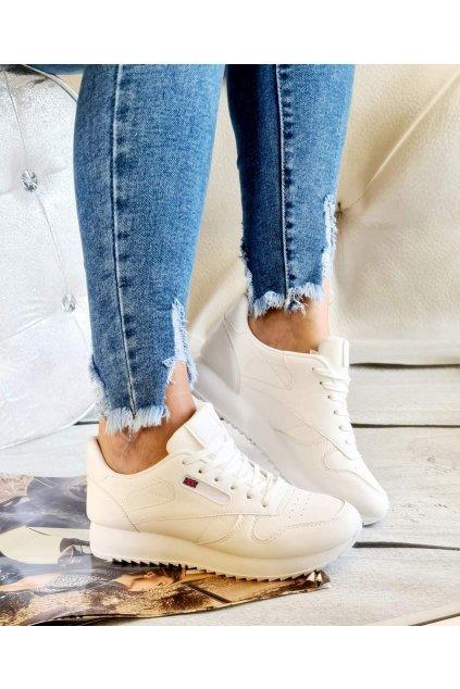 sportovní obuv british bílé