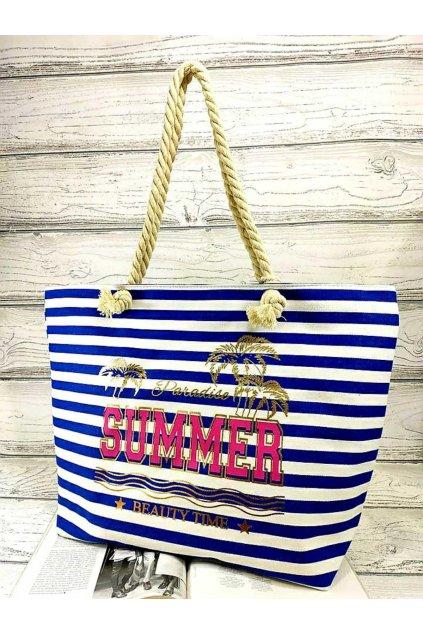 letní plážová taška summer modrá