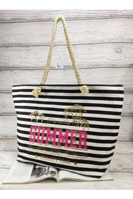 letní plážová taška summer černá