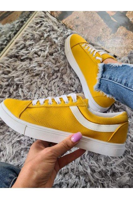 tenisky Sindy žluté trendy plátěné