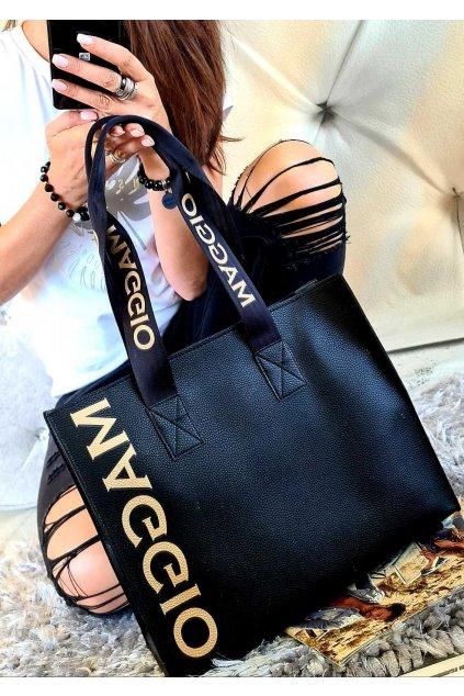 MAgio černá kabelka trendy eko kůže koženka syntetika