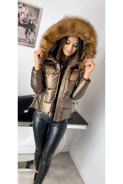 Dámská zimní bunda bronzová