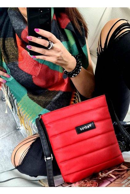 sladěný set kabelky crossbody a maxišátku dárkový set červený