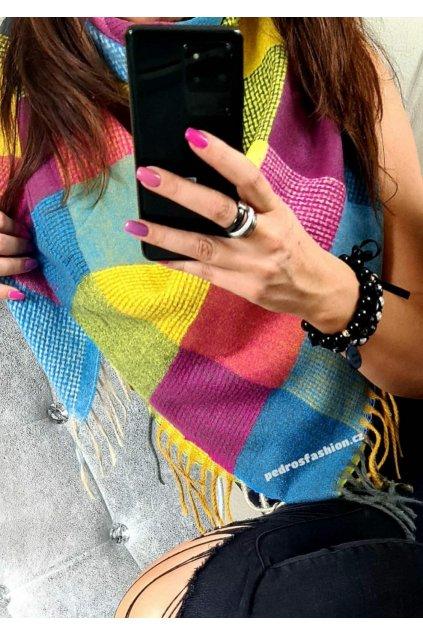 hřejivý šátek smile mix barev