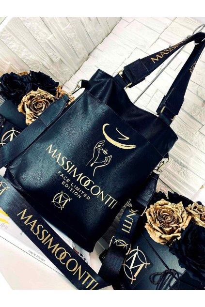massimo face černá eko kůže kabelka trendy italy style