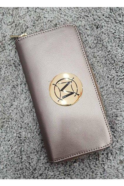 Značková dámská kožená peněženka Massimo bronzová