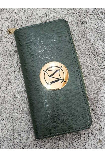 Značková dámská kožená peněženka Massimo zelená