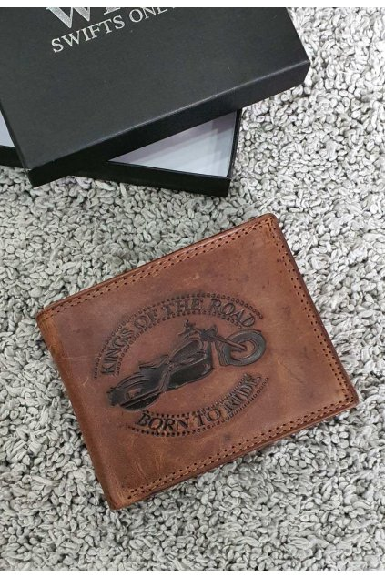 Pánská kožená peněženka Born to ride