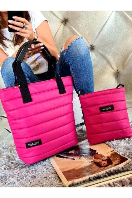 Komplet kabelek Pedros v ružové barvě