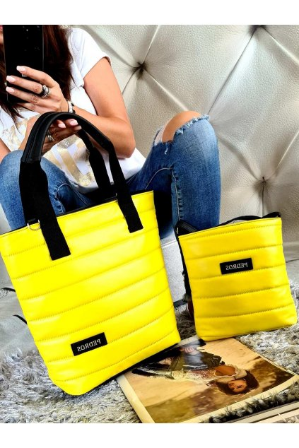 Komplet kabelek Pedros v žluté barvě