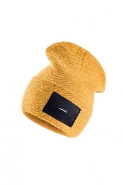 čepice woolk žlutá stylová zimní