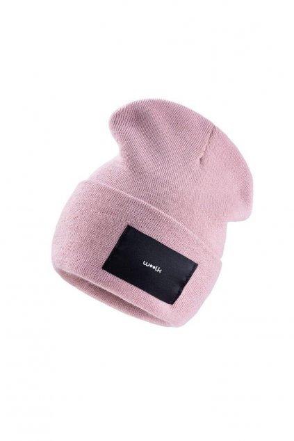 čepice woolk růžová stylová zimní