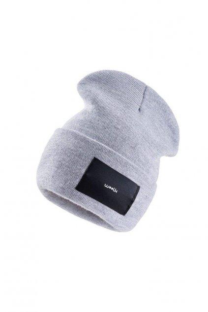 čepice woolk šedá stylová zimní
