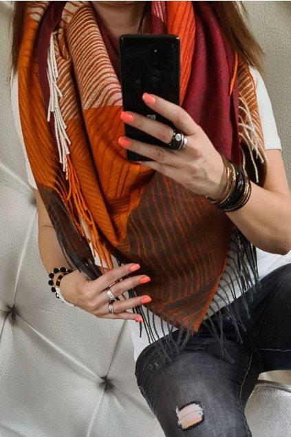 šátek new bordó tip na dárek k vánocům