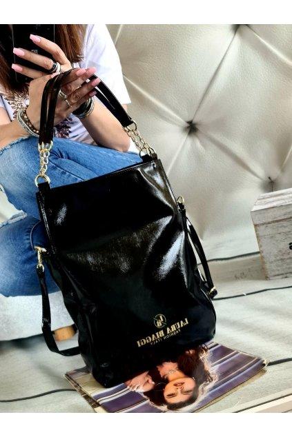 Laura Biaggi cutyss černá kabelka trendy značková luxusní italy fashion