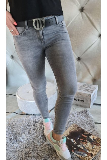 jeans šedé III elastické