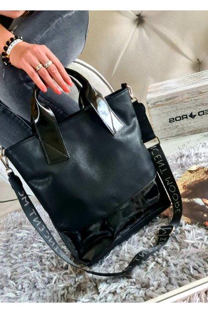 Sendy černá elegant eko kůže koženka kabelka trendy