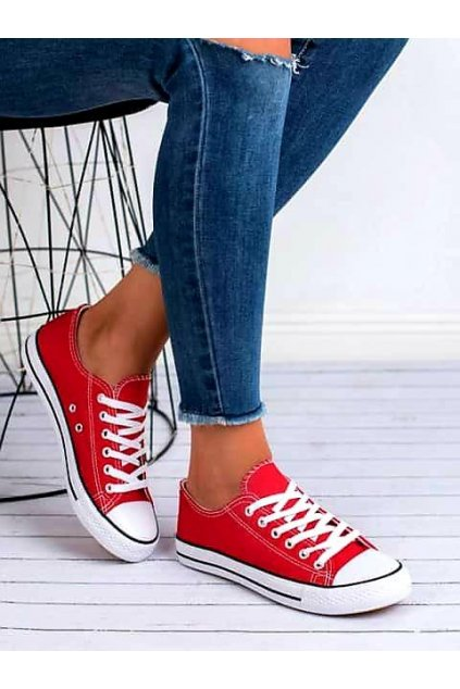 jersey červené tenisky plátěnné konvers